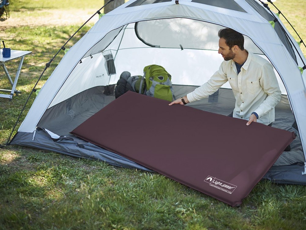 Self Inflating Matras : Inch self inflating sleep camp pad lightspeed outdoors phinemo